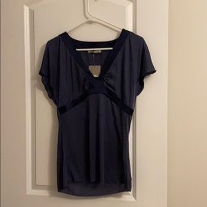 Anthropologie Velvet Short Sleeve Shirt NWT